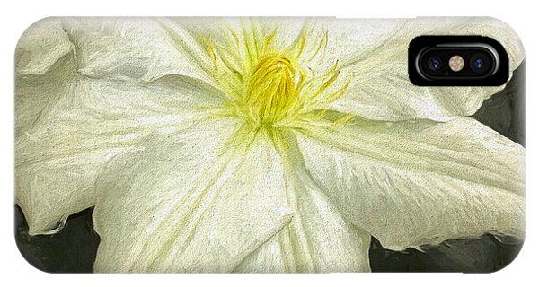 Rainy Day iPhone Case - Clematis, Painterly by Susan Lafleur