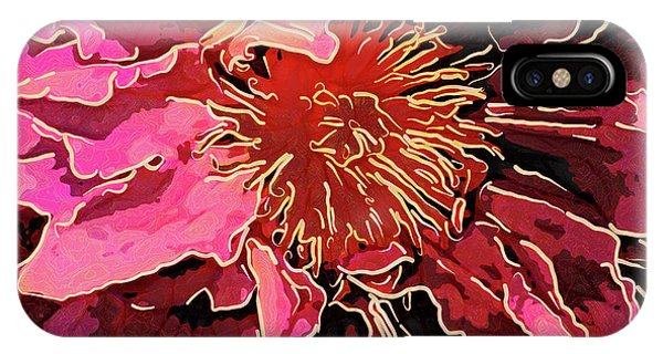 Clematis Up Close And Personal IPhone Case