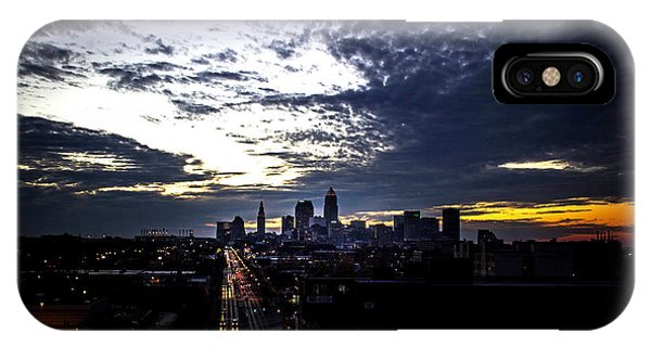 Chris Walter iPhone Case - Cleveland At Dusk by Chris Walter