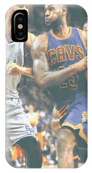 fadbe5e76374 Lebron James iPhone Case - Cleveland Cavaliers Lebron James 4 by Joe  Hamilton