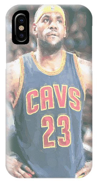 Lebron James iPhone Case - Cleveland Cavaliers Lebron James 5 by Joe Hamilton