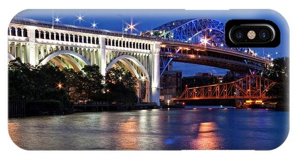 Cleveland Colored Bridges IPhone Case
