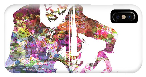 Jazz iPhone Case - Cleveland Eaton by Naxart Studio
