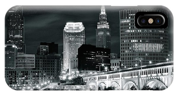 Cleveland Iconic Night Lights IPhone Case
