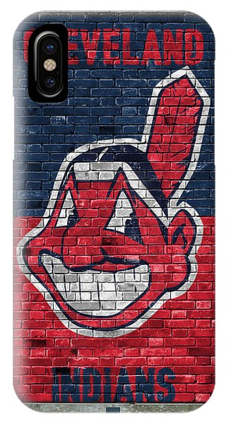 Diamond iPhone Case - Cleveland Indians Brick Wall by Joe Hamilton