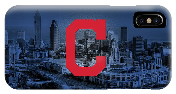 Cleveland Indians City Phone Case by Nicholas Legault