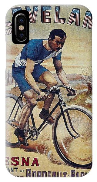 Cleveland Lesna Cleveland Gagnant Bordeaux Paris 1901 Vintage Cycle Poster IPhone Case