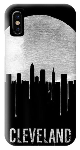 Midwest iPhone Case - Cleveland Skyline Black by Naxart Studio