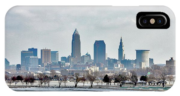Cleveland Skyline In Winter IPhone Case