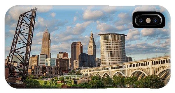 Cleveland Summer Skyline  IPhone Case