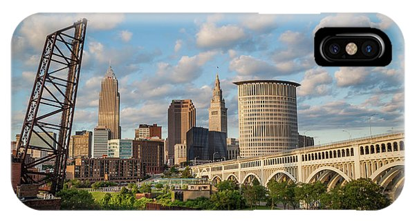 Cleveland Summer Skyline  IPhone Case