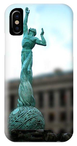 Cleveland War Memorial Fountain IPhone Case