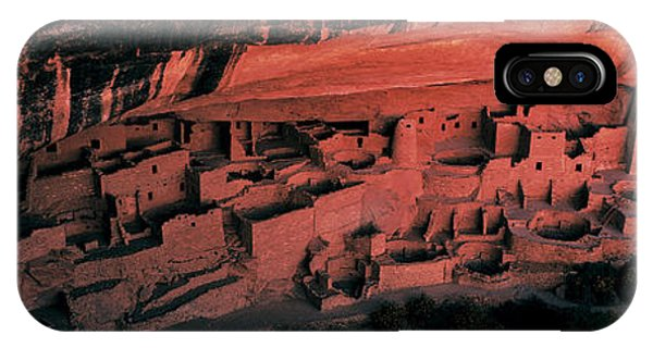 Indian Village iPhone Case - Cliff Palace Mesa Verde National Park by Panoramic Images