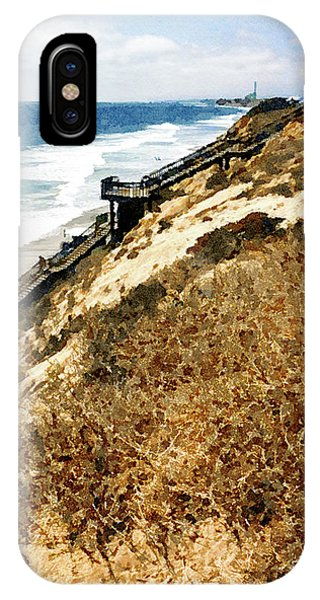 Cliff View - Carlsbad Ponto Beach IPhone Case