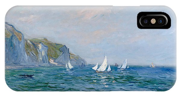 Impressionism iPhone X Case - Cliffs And Sailboats At Pourville  by Claude Monet