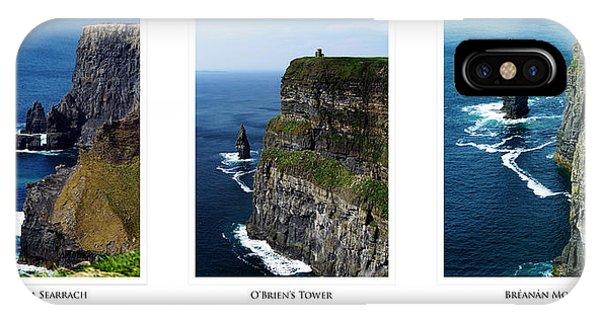 Cliffs Of Moher Ireland Triptych IPhone Case