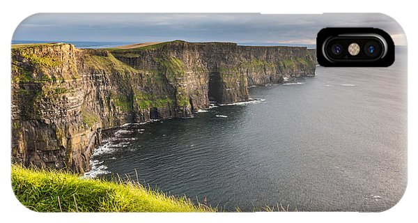 IPhone Case featuring the photograph Cliffs Of Moher On The West Coast Of Ireland by Pierre Leclerc Photography