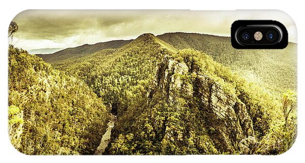 Stone Wall iPhone Case - Cliffs, Steams And Valleys by Jorgo Photography - Wall Art Gallery