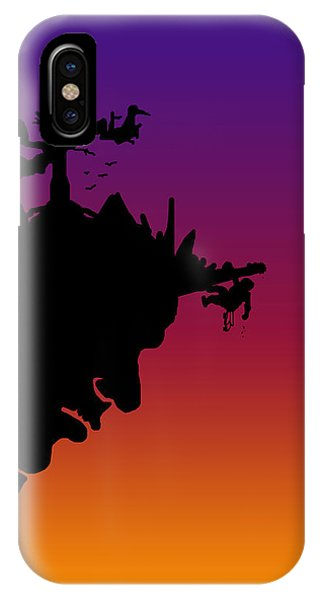 Achievement iPhone Case - Cliffshanger At Sunset by Jera Sky