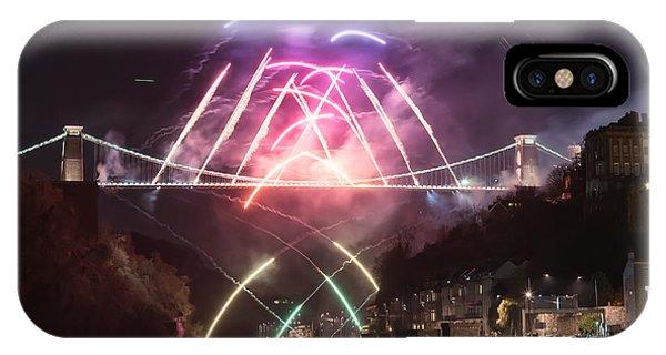 Clifton Suspension Bridge Fireworks IPhone Case