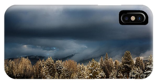 Clinging Clouds Of Winter IPhone Case