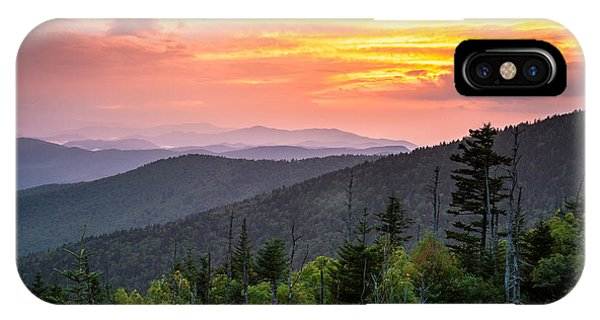 Clingmans Dome Great Smoky Mountains - Purple Mountains Majesty IPhone Case