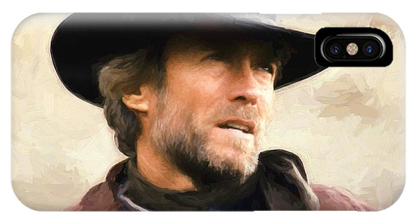Clint Eastwood In Western IPhone Case