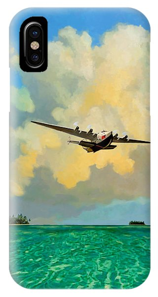Clipper Over The Islands IPhone Case