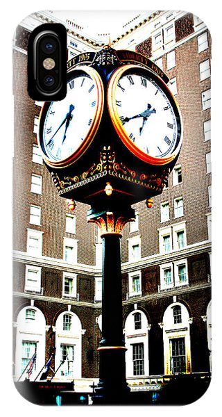 IPhone Case featuring the photograph Clock by Kelly Hazel