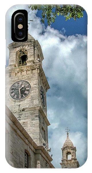 Clock Tower At Navel Dockyard - Bermuda IPhone Case