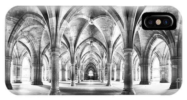Cloister Black And White Panorama IPhone Case