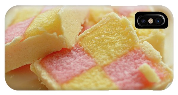 Close Up Of Battenberg Cake E IPhone Case