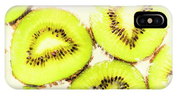 Light Paint iPhone Case - Close Up Of Kiwi Slices by Jorgo Photography - Wall Art Gallery