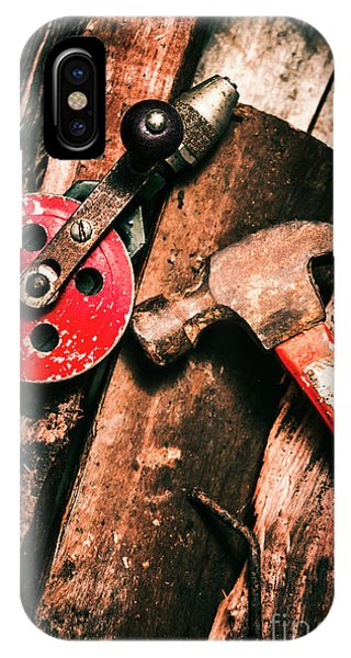 Factory iPhone Case - Close Up Of Old Tools by Jorgo Photography - Wall Art Gallery