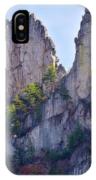 Close-up Of Seneca Rocks Top Edge IPhone Case