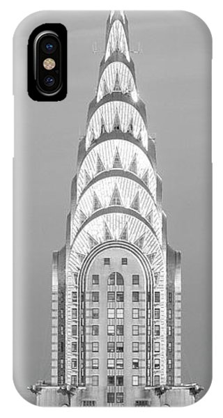 Close Up Of The Chrysler Building At Sunset. It Is The View From 42nd Street And 5th Avenue. IPhone Case