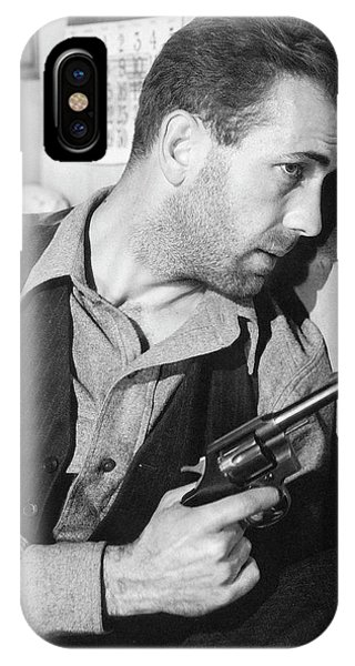 Close-up Up Of Humphrey Bogart As Duke Mantee With Gun The Petrified Forest 1936 IPhone Case