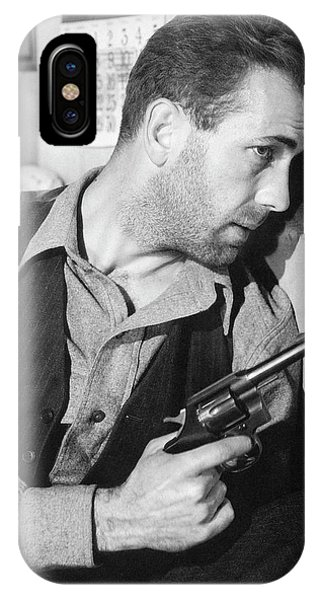 Close-up Up F Humphrey Bogart As Duke Mantee With Gun The Petrified Forest 1936 IPhone Case