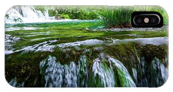 Close Up Waterfalls - Plitvice Lakes National Park, Croatia IPhone Case