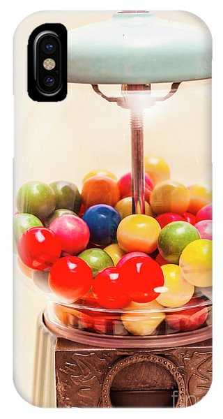 Dispenser iPhone Case - Closeup Of Colorful Gumballs In Candy Dispenser by Jorgo Photography - Wall Art Gallery