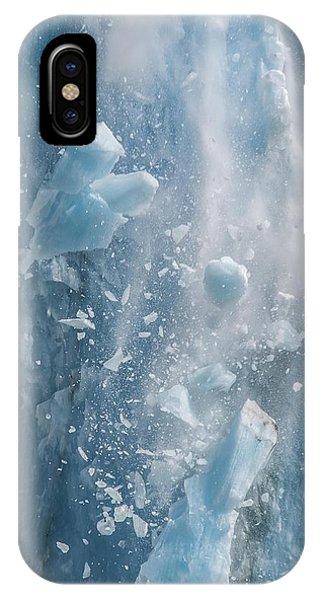 Closeup Of Dawes Glacier Calving IPhone Case