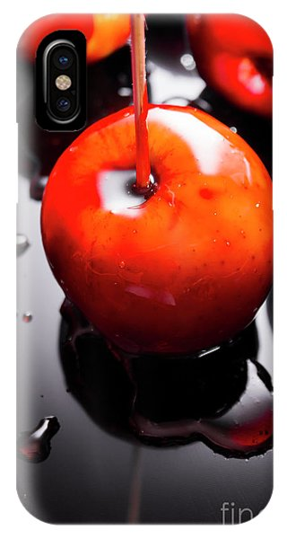 Fair iPhone Case - Closeup Of Red Candy Apple On Stick by Jorgo Photography - Wall Art Gallery