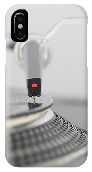 Closeup Of The Legendary Technics Sl 1200 Mk2 Turntable IPhone Case
