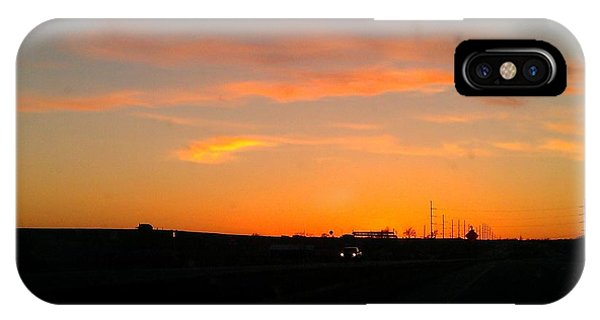 Closing Time On The Horizon Phone Case by Amber  Oxford