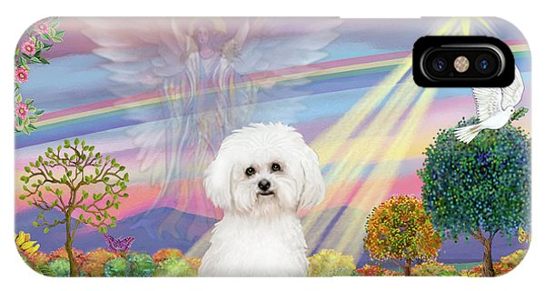 Cloud Angel And Bichon Frise IPhone Case