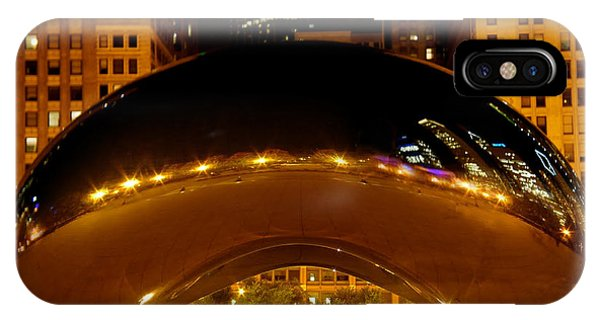 Bean Town iPhone Case - Cloud Gate At Night by Art Spectrum