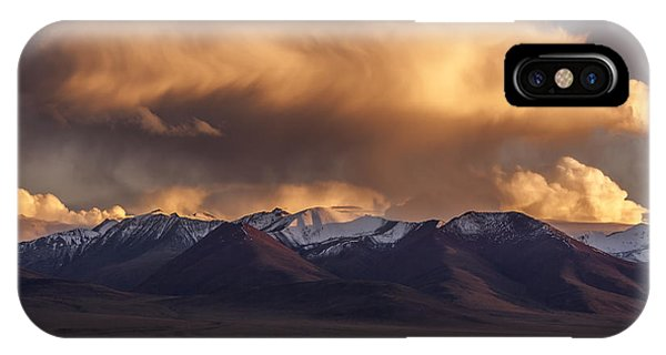 Cloud Over Namtso IPhone Case