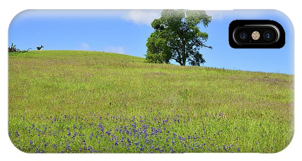 iPhone Case - Cloud Over Oak And Wildflowers by Kathy Yates