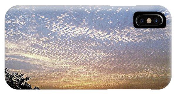 Cloud Swirl At Sunrise IPhone Case