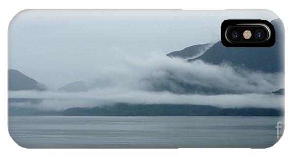 Cloud-wreathed Coastline Inside Passage Alaska IPhone Case